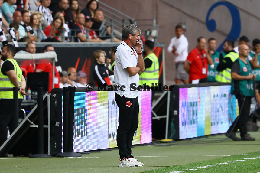 Trainer Friedhelm Funkel (Fortuna Düsseldorf) - 01.09.2019: Eintracht Frankfurt vs. Fortuna Düsseldorf, Commerzbank Arena, 3. Spieltag<br /> DISCLAIMER: DFL regulations prohibit any use of photographs as image sequences and/or quasi-video.