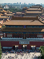 Blick vom Jingshan-H&uuml;gel auf den Kaiserpalast, Peking, China, Asien, UNESCO-Weltkulturerbe<br /> View from Jingshan-hil on Imperial Palace, Beijing, China, Asia, world heritage