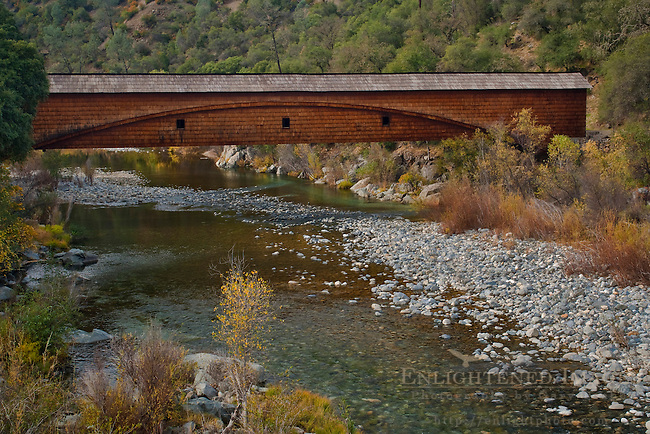 Bridgeport Covered Bridge over South Yuba River State Park, Nevada County, California