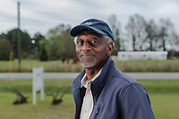 Devon Hall, executive director of REACH, in is a community leader and activist agitating against environmental pollution by hog and chicken industry CAFOs in Warsaw, North Carolina Wednesday, November 14, 2018. (Justin Cook)