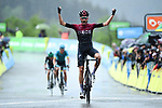 Wout Poels (NED) Team Ineos wins Stage 7 of the Criterium du Dauphine 2019, running 133.5km from Saint-Genix-les-Villages to Les Sept Laux - Pipay, France. 15th June 2019.<br /> Picture: ASO/Alex Broadway | Cyclefile<br /> All photos usage must carry mandatory copyright credit (© Cyclefile | ASO/Alex Broadway)