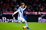 David Zurutuza Veillet of Real Sociedad in action during the La Liga 2018-19 match between Atletico de Madrid and Real Sociedad at Wanda Metropolitano on October 27 2018 in Madrid, Spain.  Photo by Diego Souto / Power Sport Images