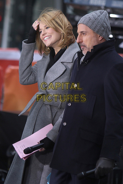 NEW YORK, NY - MARCH 17:  Savannah Guthrie and Matt Lauer on NBC's Today Show on March 17, 2014 in New York City, NY., USA.<br /> CAP/MPI/RW<br /> &copy;RW/ MediaPunch/Capital Pictures