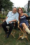Vincent D'Onofrio (was on Guiding Light) & (Law & Order Criminal Intent) and BethAnn Bonner (One Life To Live) get ready to film Crackers, an Independent Short Film which is a dark comedy about an Italian chef Gus (Vincent) and his wife Cat (BethAnn) who life is turned upside down by his mother-in-law Bidelia (Brenda Vaccaro) invades his home. It is filmed in South Amboy, New Jersey. These photos were taken on Sept. 16 and 17, 2010 on set. (Photo by Sue Coflin/Max Photos)