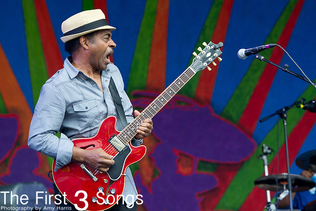 Vasti Jackson of Henry Butler & Friends performs during the New Orleans Jazz & Heritage Festival in New Orleans, LA.
