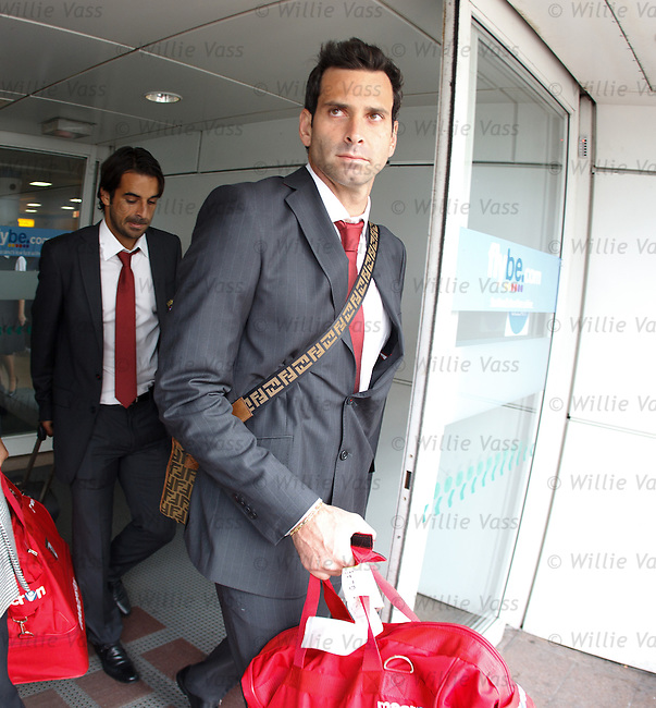 Braga goalkeeper Artur Moraes arriving in Glasgow to stop Celtic's deams of Champions league qualification