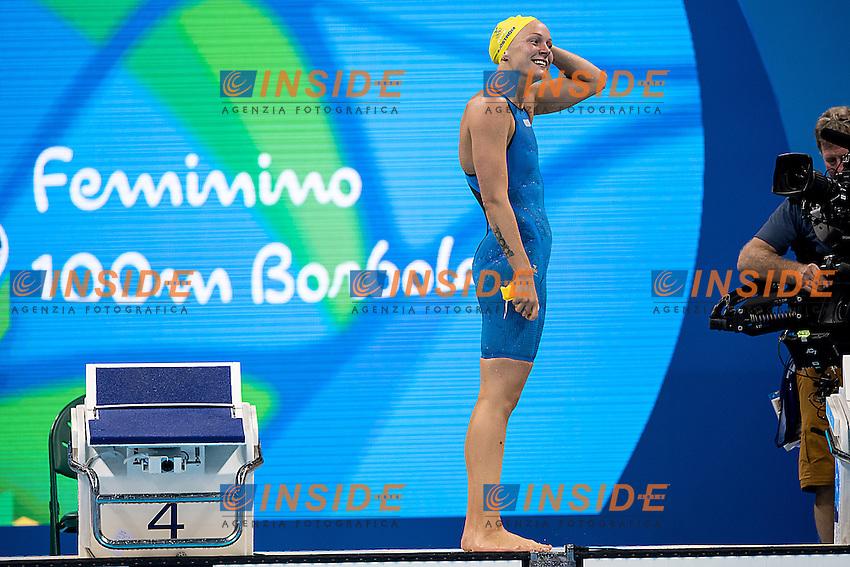Sjostrom Sarah SWE<br /> 100 butterfly women<br /> Rio de JaneiroXXXI Olympic Games <br /> Olympic Aquatics Stadium <br /> Swimming finals 07/08/2016<br /> Photo Giorgio Scala/Deepbluemedia/Insidefoto