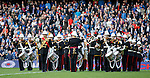 The band of the Royal Marines on the park at half-time
