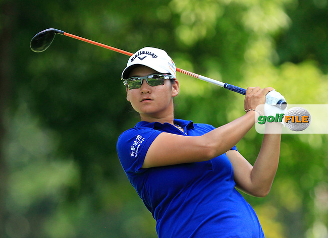Yani Tseng (TWA) on the 9th tee during Round 3 of the HSBC Women's Champions at the Sentosa Golf Club, The Serapong Course in Singapore on Saturday 7th March 2015.<br /> Picture:  Thos Caffrey / www.golffile.ie