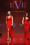 walks runway in a red dress by , for the Red Dress Collection 2017 fashion show, for The American Heart Association, presented by Macy's at the Hammerstein Ballroom in New York City on February 9, 2017; during New York Fashion Week Fall 2017.