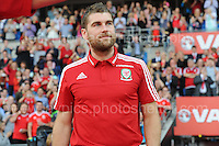 Sam Vokes during the homecoming celebrations at the Cardiff City stadium on Friday 8th July 2016 for the Euro 2016 Wales International football squad.<br /> <br /> <br /> Jeff Thomas Photography -  www.jaypics.photoshelter.com - <br /> e-mail swansea1001@hotmail.co.uk -<br /> Mob: 07837 386244 -