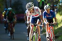 Picture by Richard Blaxall/SWpix.com - 30/09/2018 - Cycling 2018 Road Cycling World Championships Innsbruck-Tirol, Austria - Men's Elite Road Race - Hugh John Carthy of Great Britain on the Ride to Höll (Hell)