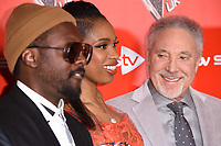 Will.I.Am, Jennifer Hudson &amp; Sir Tom Jones at the photocall for The Voice UK 2018 launch at Ham Yard Hotel, London, UK. <br /> 03 January  2018<br /> Picture: Steve Vas/Featureflash/SilverHub 0208 004 5359 sales@silverhubmedia.com