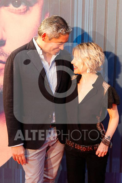 Boris Izaguirre and Eugenia Martinez de Irujo attends David Bisbal´s new music album premiere photocall at Callao cinema in Madrid, Spain. March 17, 2014. (ALTERPHOTOS/Victor Blanco)