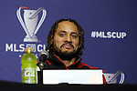 05 December 2014: New England Revolution's Jermaine Jones. Major League Soccer held a press conference at the StubHub Center in Carson, California two days before the Los Angeles Galaxy hosted the New England Revolution in MLS Cup 2014.