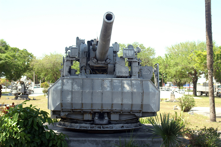 5 inch 38 cal gun mount at the War Memorial in Okeechobee, FL.
