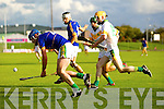 Pat Corridan Lixnaw in action against Tommy Maunsell Kilmoyley in the County Senior Hurling final at Austin Stack Park on Saturday.