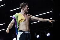 WEST PALM BEACH, FL - AUGUST 9: Imagine Dragons performs during the Evolve Tour at The Coral Sky Amphitheatre on August 9, 2018 in West Palm Beach, Florida. Credit: mpi140/MediaPunch