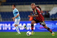 Calcio, Serie A: Lazio vs Milan. Roma, stadio Olimpico, 23 marzo 2014.<br /> AC Milan midfielder Nigel De Jong, of the Netherlands, in action during the Italian Serie A football match between Lazio and AC Milan at Rome's Olympic stadium, 23 March 2014.<br /> UPDATE IMAGES PRESS/Isabella Bonotto