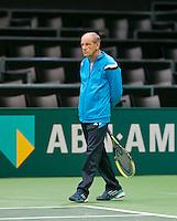 09-02-14, Netherlands,Rotterdam,Ahoy, ABNAMROWTT,   Boris Sobkin (RUS) coach of Mikhail Youzhny(RUS) <br /> Photo:Tennisimages/Henk Koster