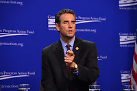 Washington, DC - July 16, 2018: U.S. Representative John Sarbanes participates in a pro-voter and anti-corruption congressional discussion moderated by Winnie Stachelberg at the Center for Amercian Progress in Washington, DC.. July 16, 2018.  (Photo by Don Baxter/Media Images International)