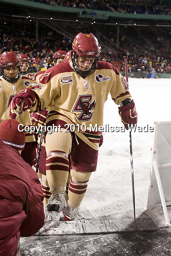 Malcolm Lyles (BC - 23), Steven Whitney (BC - 21) - The Boston University Terriers defeated the Boston College Eagles 3-2 on Friday, January 8, 2010, at Fenway Park in Boston, Massachusetts, as part of the Sun Life Frozen Fenway doubleheader.