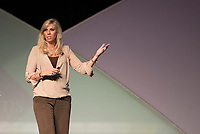 NWA Democrat-Gazette/J.T. WAMPLER Sarah Thomas, the first female referee in the  National Football League, speaks Tuesday Sept 12, 2017 at the Northwest Arkansas Business Women's Conference at the John Q. Hammons Center in Rogers. Thomas was the keynote speaker of the sold-out event.