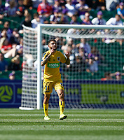 3rd November 2019; HBF Park, Perth, Western Australia, Australia; A League Football, Perth Glory versus Central Coast Mariners; Daniel De Silva of the Central Coast Mariners celebrates scoring in the 16th minute to put the Mariners in front 1-0 - Editorial Use