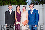 Attending the Castleisland Community College Debs at the Earl of Desmond Hotel on Friday night were l-r  Michael Langford, Kelly Rutledge, Tara O'Shea and PJ O'Sullivan