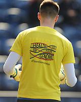 Preston North End's Declan Rudd during the pre-match warm-up <br /> <br /> Photographer Kevin Barnes/CameraSport<br /> <br /> The EFL Sky Bet Championship - Preston North End v Sheffield United - Saturday 6th April 2019 - Deepdale Stadium - Preston<br /> <br /> World Copyright © 2019 CameraSport. All rights reserved. 43 Linden Ave. Countesthorpe. Leicester. England. LE8 5PG - Tel: +44 (0) 116 277 4147 - admin@camerasport.com - www.camerasport.com