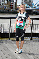 London - Virgin London Marathon 2012 Celebrity Runners Photocall outside the Tower Hotel, London - April 20th 2012..Photo by Keith Mayhew