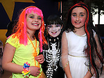 Olivia Smith, Aine O'Brien and Holly Heeney pictured at the Halloween party in Scotch Hall. Photo:Colin Bell/pressphotos.ie