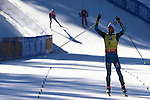 10/12/2016, Pokljuka - IBU Biathlon World Cup.<br /> Martin Fourcade competes at the pursuit race in Pokljuka, Slovenia on 10/12/2016. French Martin Fourcade remains leader with the yellow bib after his today victory.