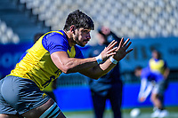 Tomas Lavanini receives a pass during the Rugby Championship Argentina Pumas captain's run at Trafalgar Park in Nelson, New Zealand on Friday, 7 September 2018. Photo: Dave Lintott / lintottphoto.co.nz