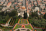Israel, Carmel. The Bahai Shrine and gardens in Haifa