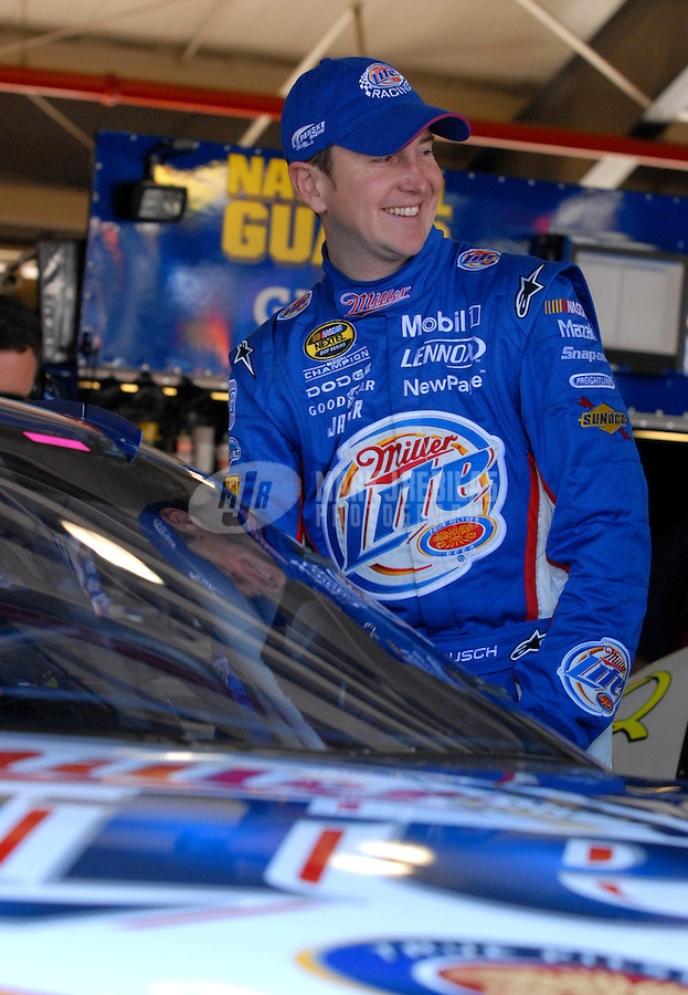 Feb 24, 2007; Fontana, CA, USA; Nascar Nextel Cup Series driver Kurt Busch (2) during practice for the Auto Club 500 at California Speedway. Mandatory Credit: Mark J. Rebilas