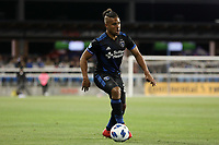 San Jose, CA - Saturday May 19, 2018: Quincy Amarikwa during a Major League Soccer (MLS) match between the San Jose Earthquakes and D.C. United at Avaya Stadium.