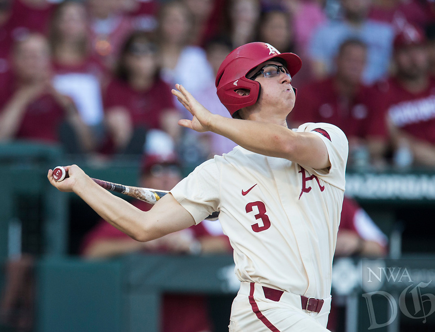 NWA Democrat-Gazette/BEN GOFF @NWABENGOFF<br /> Arkansas vs South Carolina Saturday, June 9, 2018, during game one of the NCAA Super Regional at Baum Stadium in Fayetteville.