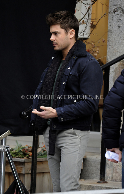 WWW.ACEPIXS.COM....December 20 2012, New York City....Actor Zac Efron on the set of the new movie 'Are We Officailly Dating?' on December 20 2012 in New York City......By Line: Curtis Means/ACE Pictures......ACE Pictures, Inc...tel: 646 769 0430..Email: info@acepixs.com..www.acepixs.com
