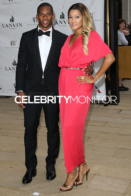 NEW YORK CITY, NY, USA - MAY 12: Victor Cruz, Elaina Watley at the American Ballet Theatre 2014 Opening Night Spring Gala held at The Metropolitan Opera House on May 12, 2014 in New York City, New York, United States. (Photo by Celebrity Monitor)