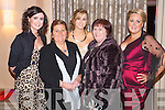 Pictured at the Lee Strand Social on Saturday night held In Ballygarry House Hotel and Spa were l-r: Eilsh Flaherty (Camp) Eileen Wall (Derrymore) Breda Fitzgerald (Dingle) Noreen Sayers (Derrymore) and Caitriona Sayers (Derrymore).
