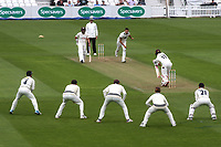 Surrey's Rory Burns plays and misses off the bowling of Kent's Harry Podmore during Surrey CCC vs Kent CCC, Specsavers County Championship Division 1 Cricket at the Kia Oval on 7th July 2019