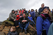spectators - at the World Stone Skimming Championships which attracted over 300 entries from all round the world - Easdale is reached by a small open ferry-boat from the Isle of Seil - south of Oban - picture by Donald MacLeod - 25.9.11 - clanmacleod@btinternet.com 07702 319 738 donald-macleod.com