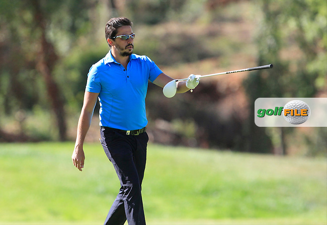 Mike Lorenzo-Vera (FRA) on the 7th fairway during Round 3 of the Open de Espana  in Club de Golf el Prat, Barcelona on Saturday 16th May 2015.<br /> Picture:  Thos Caffrey / www.golffile.ie