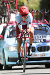 Viacheslav Kuznetsov (RUS) Team Katusha Alpecin in action during Stage 10 of La Vuelta 2019 an individual time trial running 36.2km from Jurancon to Pau, France. 3rd September 2019.<br /> Picture: Luis Angel Gomez/Photogomezsport | Cyclefile<br /> <br /> All photos usage must carry mandatory copyright credit (© Cyclefile | Luis Angel Gomez/Photogomezsport)