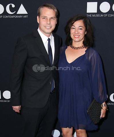 LOS ANGELES, CA - MAY 14: Shepard Fairey, Amanda Fairey arrives at the MOCA Gala 2016 at The Geffen Contemporary at MOCA on May 14, 2016 in Los Angeles, California. Credit: Parisa/MediaPunch.