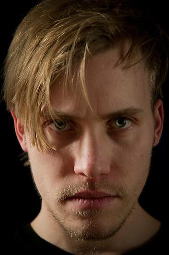 Blond male portrait.