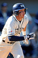 28 February 2010:  FIU's Garrett Wittels (10) runs to first as the FIU Golden Panthers defeated the Oral Roberts Golden Eagles, 7-6 (10 innings), at University Park Stadium in Miami, Florida.