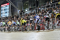 General view at the Avanti BikeNZ Cup, Avantidrome, Cambridge, New Zealand, Saturday, September 20, 2014, Credit: Dianne Manson/BikeNZ