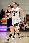 31 January 2010: University of Vermont Catamount guard Courtnay Pilypaitis (3), a Senior from Ottawa, Ontario, in action against the University of New Hampshire Wildcats at Patrick Gymnasium in Burlington, Vermont. The Lady Catamounts defeated the visiting Wildcats 78-64. Mandatory Credit: Ed Wolfstein Photo